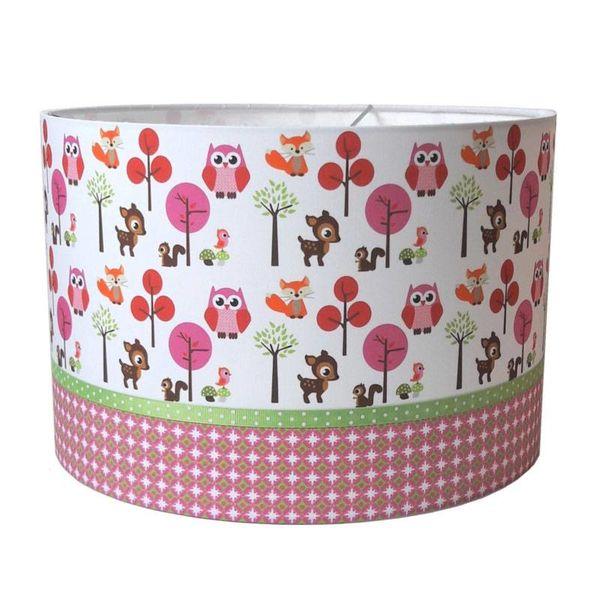 Designed4Kids Designed4Kids kinderlamp bosdieren roze