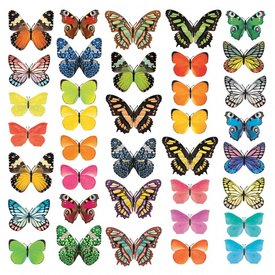 Decowall Decowall muursticker kinderkamer vlinders Vivid Butterflies