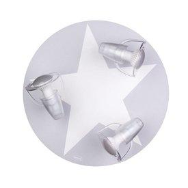 Waldi-Leuchten Kinderlamp plafond ster grijs