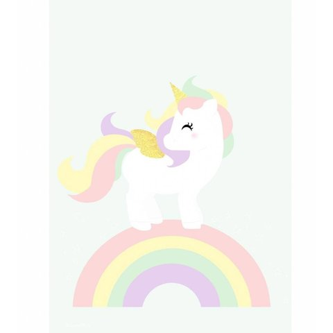 Designed4Kids poster A3 eenhoorn  en regenboog