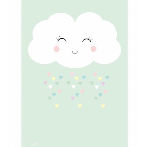 Designed4Kids poster wolk en hartjes