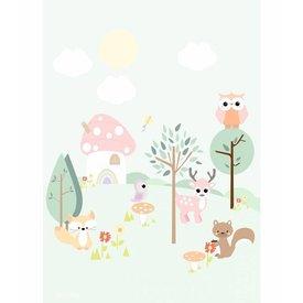 Designed4Kids Designed4Kids poster Forest Friends pastel