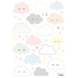 Lilipinso Lilipinso muursticker wolkjes Nuages Rieurs