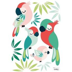 Lilipinso Lilipinso muursticker papegaaien