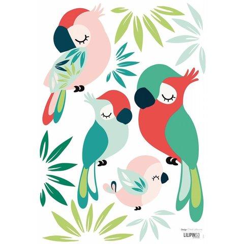 Lilipinso muursticker papegaaien