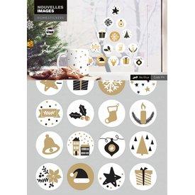 Nouvelles Images Nouvelles Images raamsticker kerst symbolen