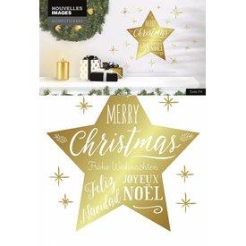 Nouvelles Images Nouvelles Images muurstickers kerst ster goud