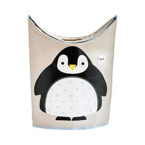 3 Sprouts wasmand kinderkamer pinguïn