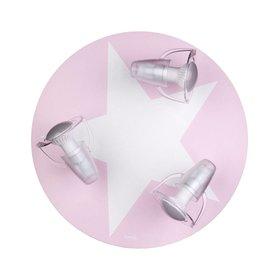 Waldi-Leuchten Kinderlamp plafond ster roze