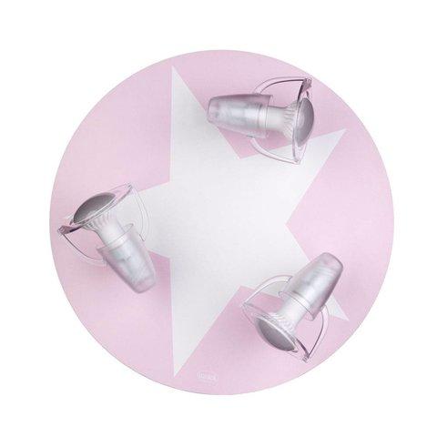 Kinderlamp plafond ster roze