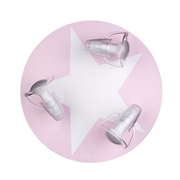 Waldi-Leuchten Waldi Leuchten plafonnière ster roze