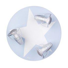 Waldi-Leuchten Kinderlamp plafond ster lichtblauw