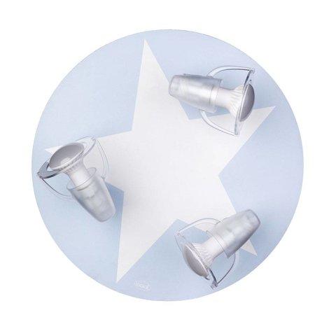 Kinderlamp plafond ster lichtblauw