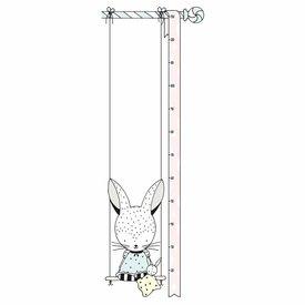 Lilipinso Lilipinso muursticker meetlat konijn
