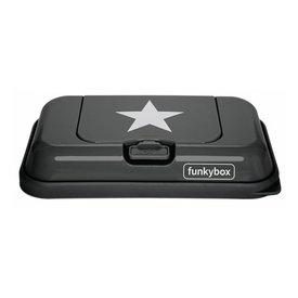 funkybox Funkybox To Go bewaardoos voor billendoekjes en snoetenpoetsers antraciet