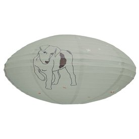 Mimi'lou Mimi'lou rijstpapier lamp hond ovaal