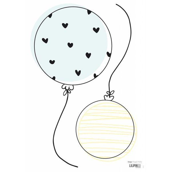 Lilipinso Lilipinso muursticker ballonnen