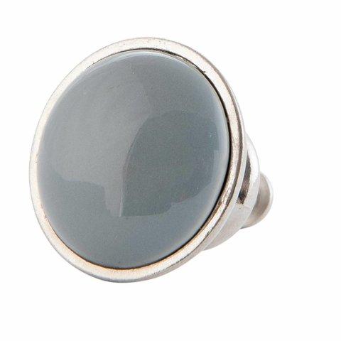 Deurknopje grijs met metalen frame