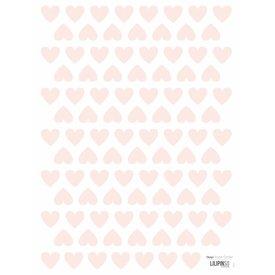 Lilipinso Lilipinso mini muurstickers hartjes roze
