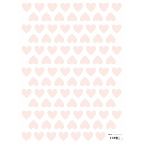 Lilipinso mini muurstickers hartjes roze