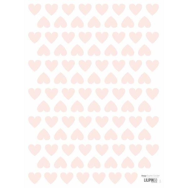 Lilipinso Lilipinso mini muursticker kinderkamer hartjes roze