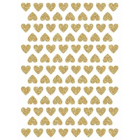 Lilipinso muurstickers mini hartjes glitter goud