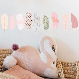 Mimi'lou Mimilou mini muurstickers veertjes plumes