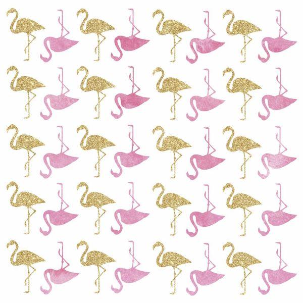 Roommates Roommates muursticker kinderkamer flamingo's glitter
