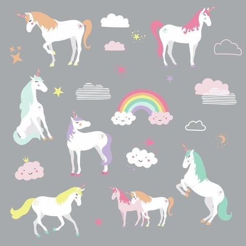 Roommates muursticker eenhoorn unicorn magic
