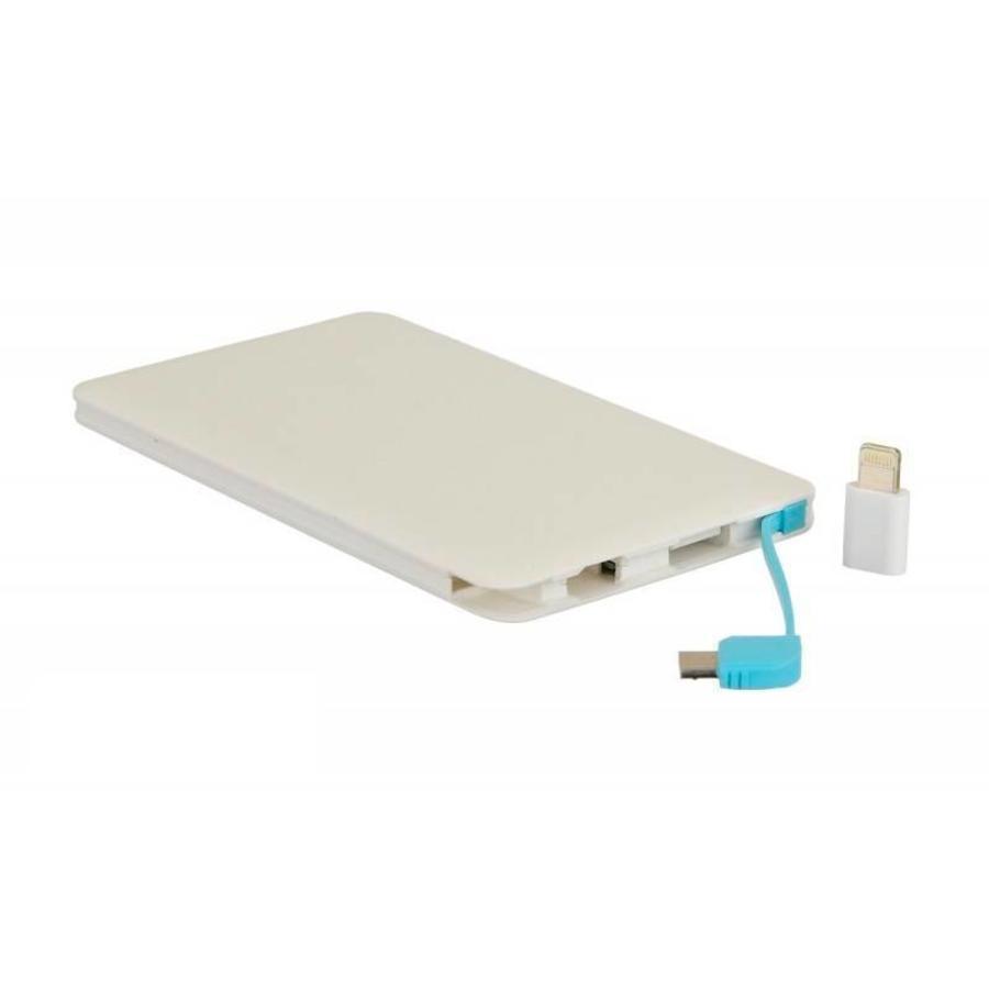Powerbank Inklusiv Micro USB en Apple Connector