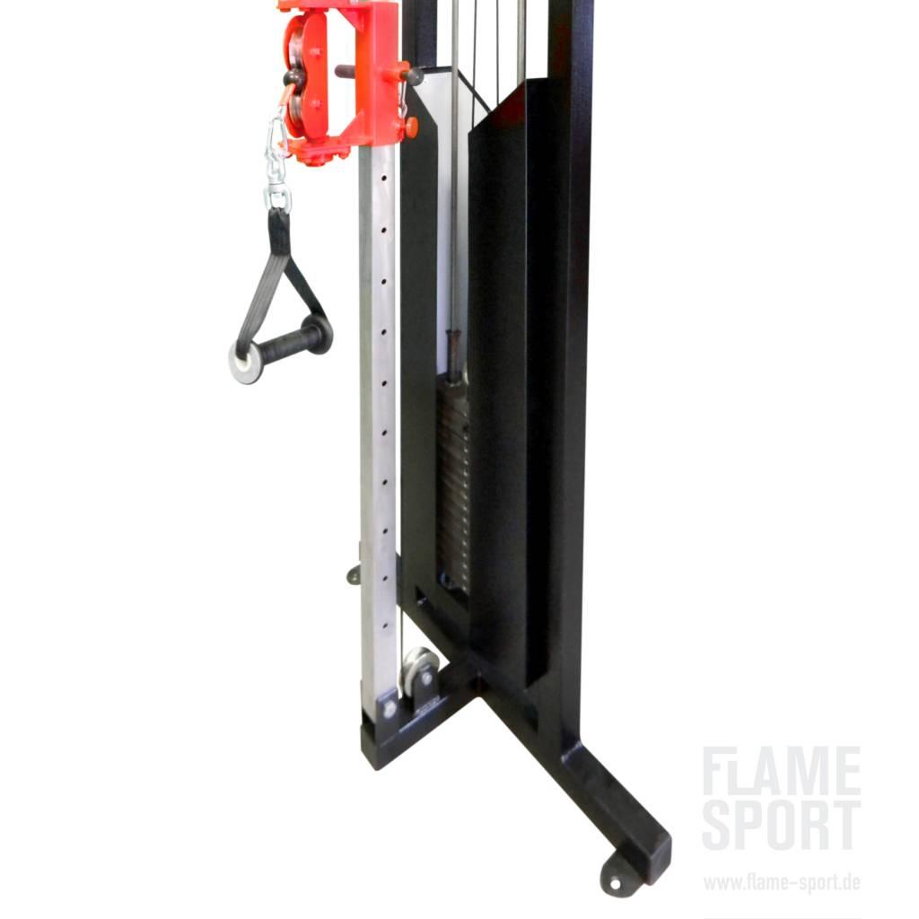 2c kabelzugstation kabelzug multifunktionales trainingsger t funktionaltrainer flame sport. Black Bedroom Furniture Sets. Home Design Ideas