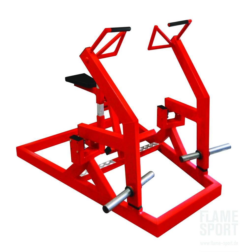Latrudermaschine mit Bruststütze (7L) / Duale Rückenzugmaschine