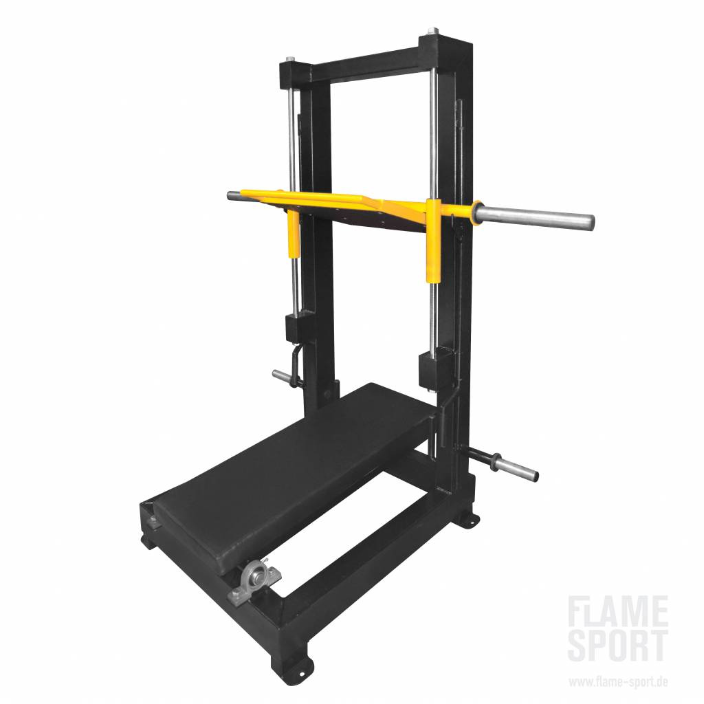 Vertical Leg Press Plate Loaded 7dx Flame Sport