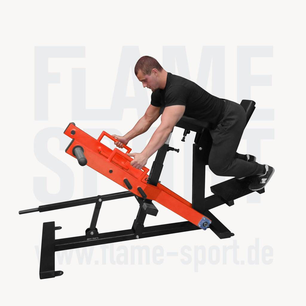 T-bar Row with chest Support (1LX), Plate loaded