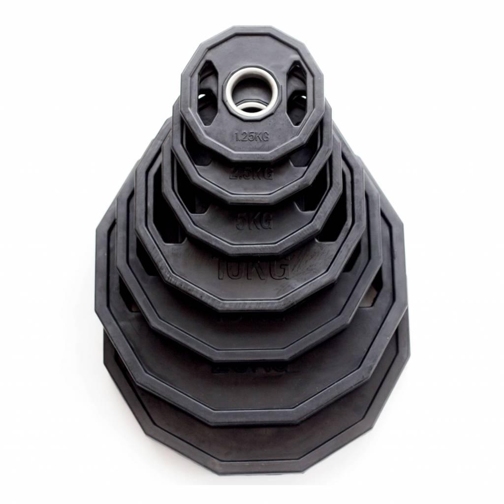Olympia Hantelscheiben (51 mm) | Gummiert | schwarz