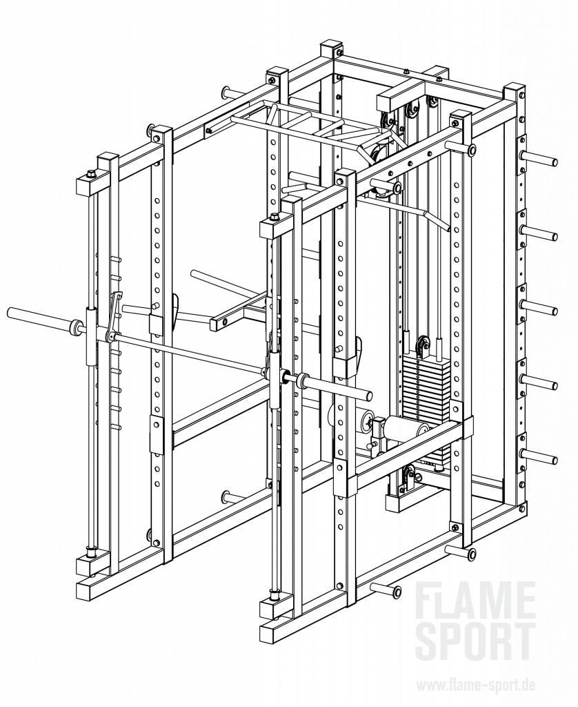 Multifunctional Power Rack (9B)