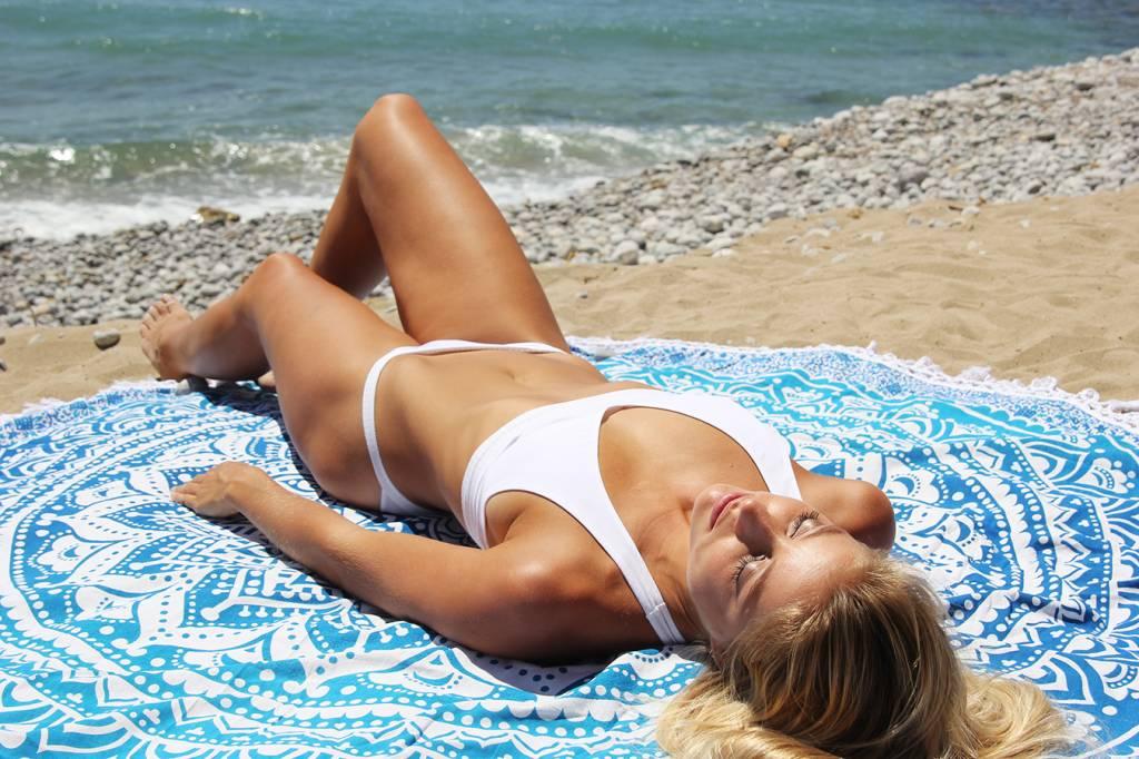 Myroundie Myroundie - roundie - rond strandlaken - 100% katoen – 37