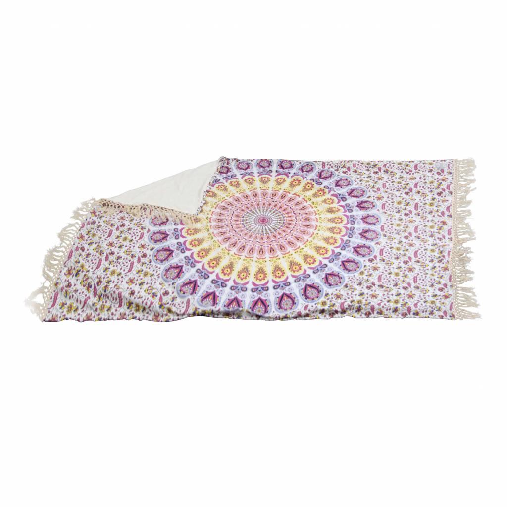 Myroundie Myroundie – roundie – badstof strandlaken XL  – 100% katoen – 140x220 cm – 753