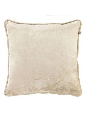 dutch decor sierkussens & plaids Kussenhoes  Fluweel 45x45 cm zand