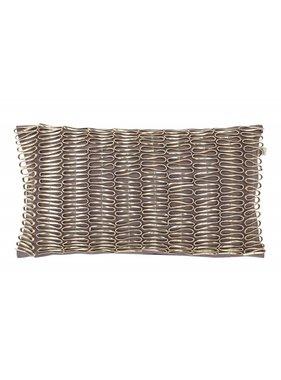 dutch decor sierkussens & plaids Kussenhoes  Myratha 30x50 cm donker grijs