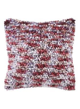 dutch decor sierkussens & plaids Kussenhoes  Noble 45x45 cm bordeaux