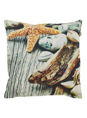 dutch decor sierkussens & plaids Kussenhoes  Seastar 45x45 cm zand