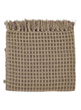 dutch decor sierkussens & plaids Plaid Magatha 130x180 cm taupe