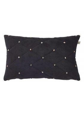 dutch decor sierkussens & plaids Sierkussen / sierkussens Esula 30x50 cm zwart