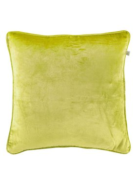 dutch decor sierkussens & plaids Sierkussen / sierkussens Fluweel 45x45 cm lime