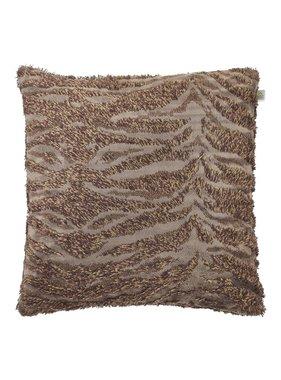 dutch decor sierkussens & plaids Sierkussen / sierkussens Hairy 45x45 cm bruin