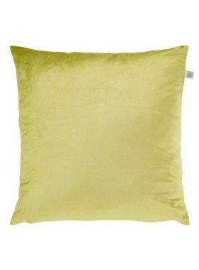 dutch decor sierkussens & plaids Sierkussen / sierkussens Krone 45x45 cm lime