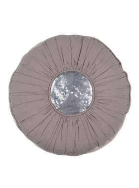 Walra Sierkussen / sierkussens Mette 40 cm rond grijs