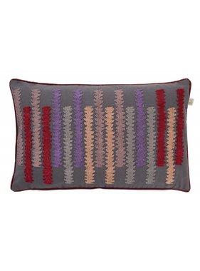 dutch decor sierkussens & plaids Kussenhoes  Orin 30x50 cm donker grijs