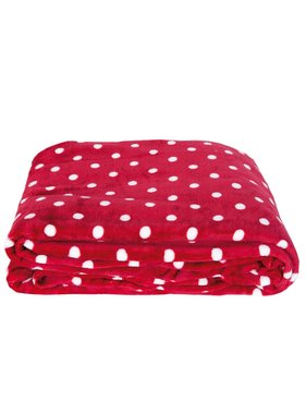 Clayre & Eef Plaid Dots 210 x 160 cm rood